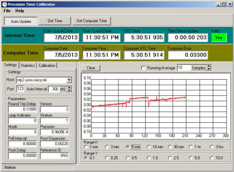Image of Precision Time Calibrator Window